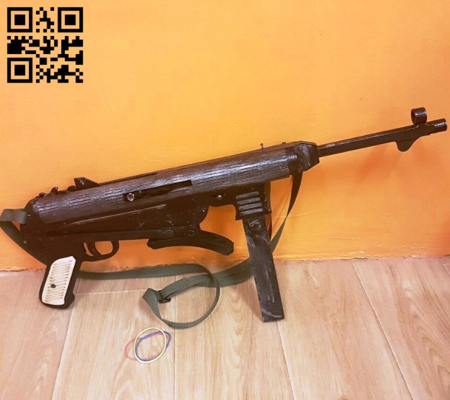 MR40 gun E0010713 file cdr and dxf free vector download for laser cut