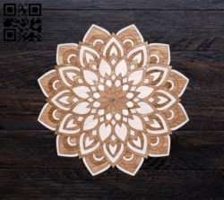 Mandala E0010871 file cdr and dxf free vector download for Laser cut