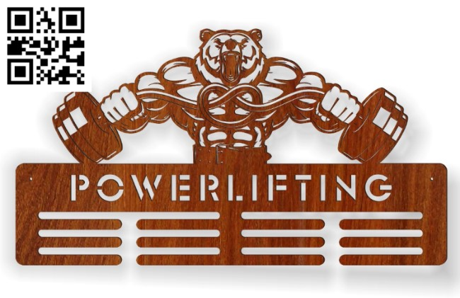 Medals for bodybuilders E0010792 file cdr and dxf free vector download for Laser cut