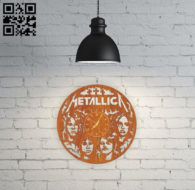 Metallica E0010769 file cdr and dxf free vector download for Laser cut