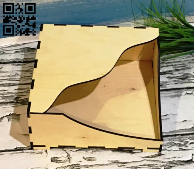 Napkin holder E0010663 file cdr and dxf free vector download for Laser cut