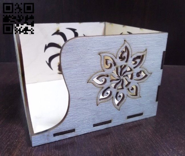 Napkin holder E0010712 file cdr and dxf free vector download for laser cut