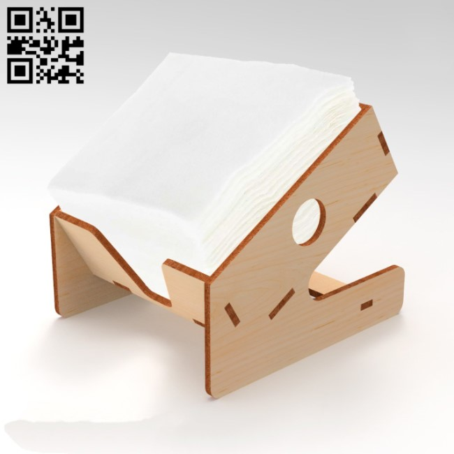 Napkin holder E0010721 file cdr and dxf free vector download for laser cut