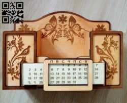 Organizer with calendar E0010686 file cdr and dxf free vector download for Laser cut