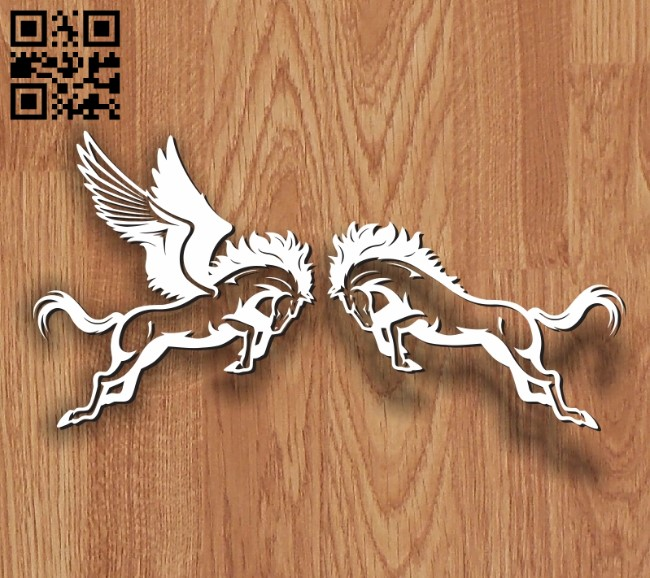 Pegasus E0010704 file cdr and dxf free vector download for laser engraving machines