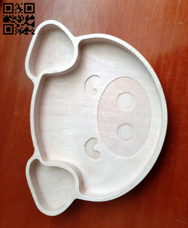 Pig plate E0010575 file cdr and dxf free vector download for Laser cut