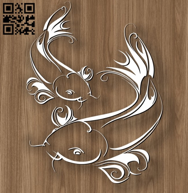 Pisces zodiac E0010696 file cdr and dxf free vector download for laser engraving machines