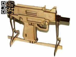 Pistol E0010747 file cdr and dxf free vector download for Laser cut