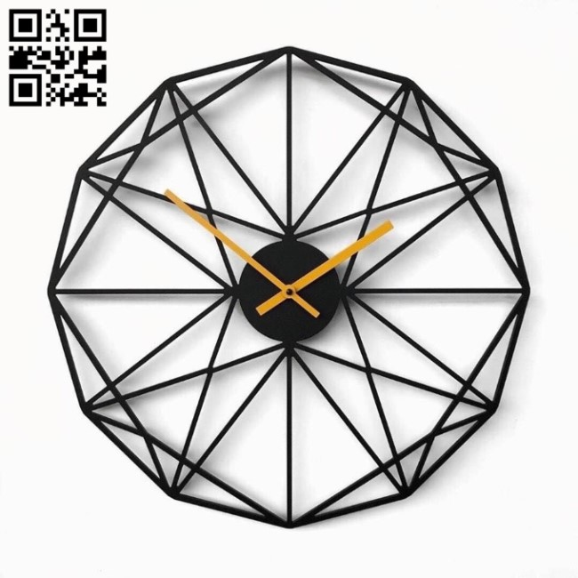 Polygon clock E0010852 file cdr and dxf free vector download for Laser cut