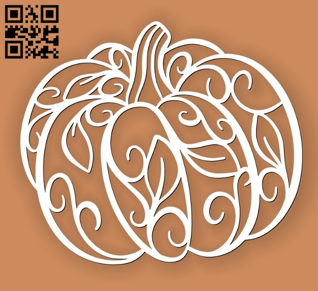 Pumpkin E0010828 file cdr and dxf free vector download for Laser cut