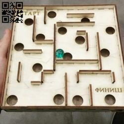 Puzzle Plywood Labyrinth E0010908 file cdr and dxf free vector download for Laser cut