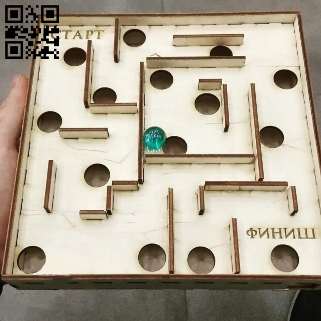 Puzzle Plywood Labyrinth E0010907 file cdr and dxf free vector download for Laser cut