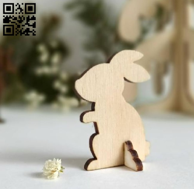 Rabbit figurines E0010751 file cdr and dxf free vector download for Laser cut