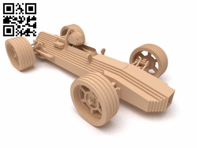 Racing car model E0010837 file cdr and dxf free vector download for Laser cut