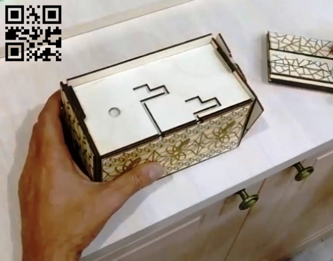 Secret box E0010572 file cdr and dxf free vector download for Laser cut