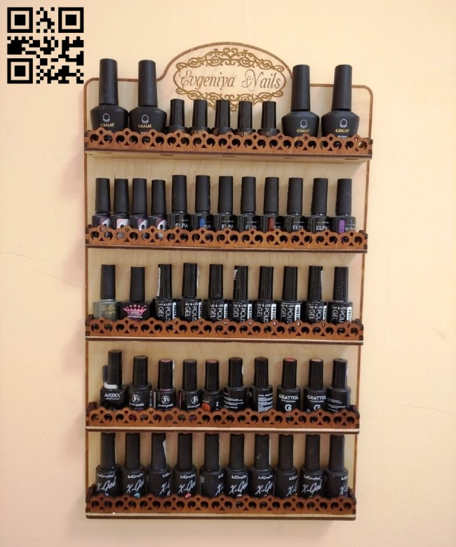 Shelf for varnishes E0010861 file cdr and dxf free vector download for Laser cut