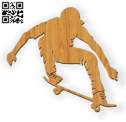 Skateboarding E0010606 file cdr and dxf free vector download for Laser cut