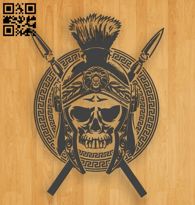 Skull E0010767 file cdr and dxf free vector download for laser engraving machines