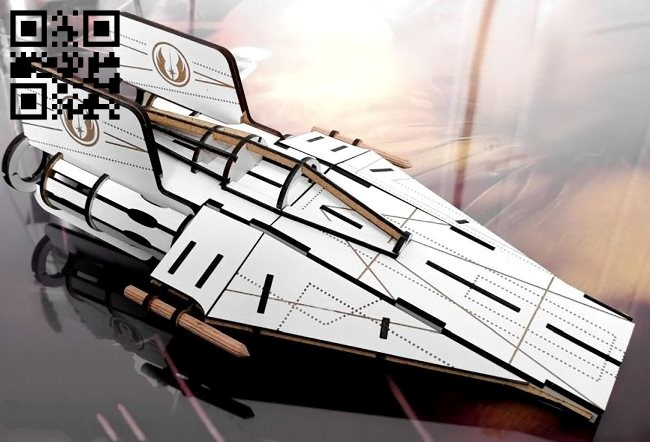 Spaceship E0010909 file cdr and dxf free vector download for Laser cut