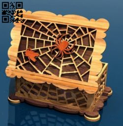 Spider casket E0010879 file cdr and dxf free vector download for Laser cut