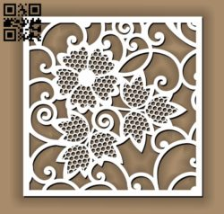 Square decoration E00010627 file cdr and dxf free vector download for Laser cut