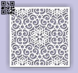 Square decoration E00010628 file cdr and dxf free vector download for Laser cut