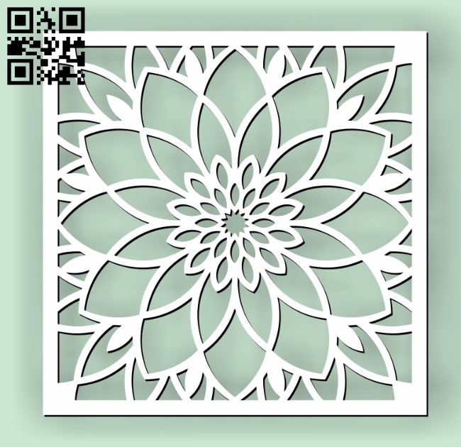 Square decoration E00010629 file cdr and dxf free vector download for Laser cut