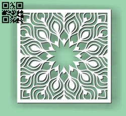 Square decoration E00010630 file cdr and dxf free vector download for Laser cut