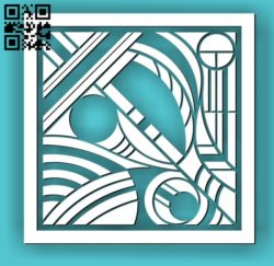 Square decoration E00010634 file cdr and dxf free vector download for Laser cut