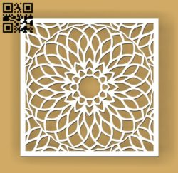 Square decoration E0010683 file cdr and dxf free vector download for Laser cut