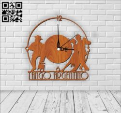 Tango wall clock E0010746 file cdr and dxf free vector download for Laser cut
