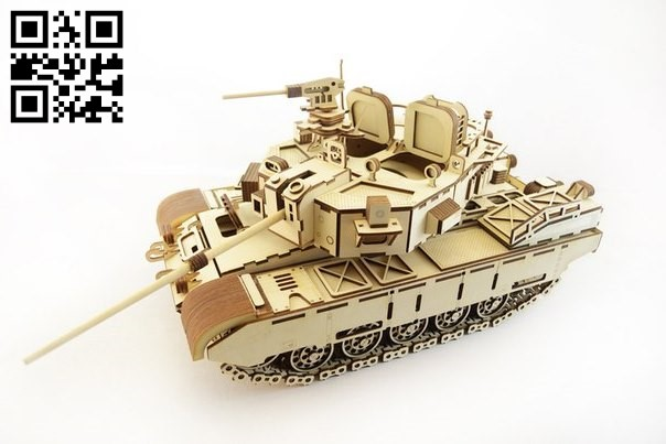 Tank Cayman E0010665 file cdr and dxf free vector download for Laser cut