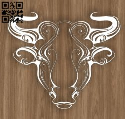 Taurus zodiac E0010698 file cdr and dxf free vector download for laser engraving machines