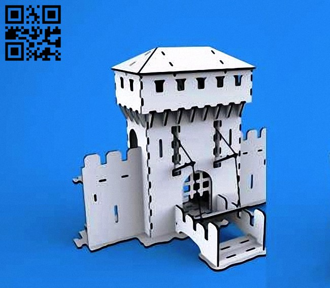 Tower E0010616 file cdr and dxf free vector download for laser cut