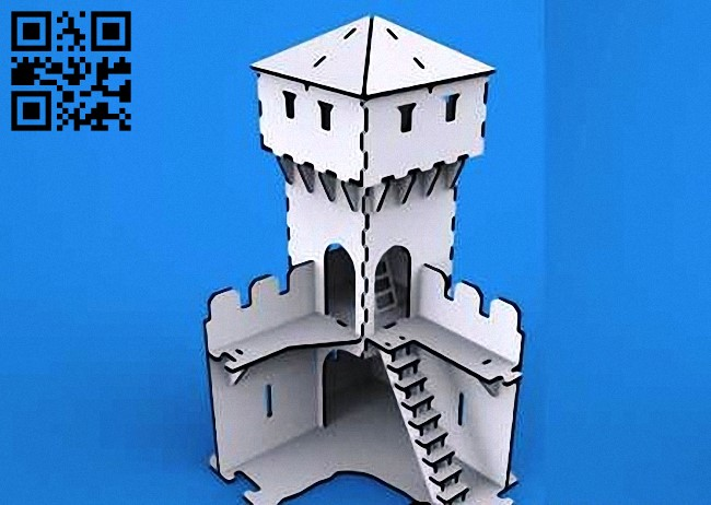 Tower E0010617 file cdr and dxf free vector download for laser cut