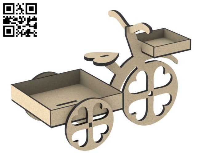 Toy bicycle E0010835 file cdr and dxf free vector download for Laser cut