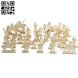 Toy soldiers E0010642 file cdr and dxf free vector download for Laser cut