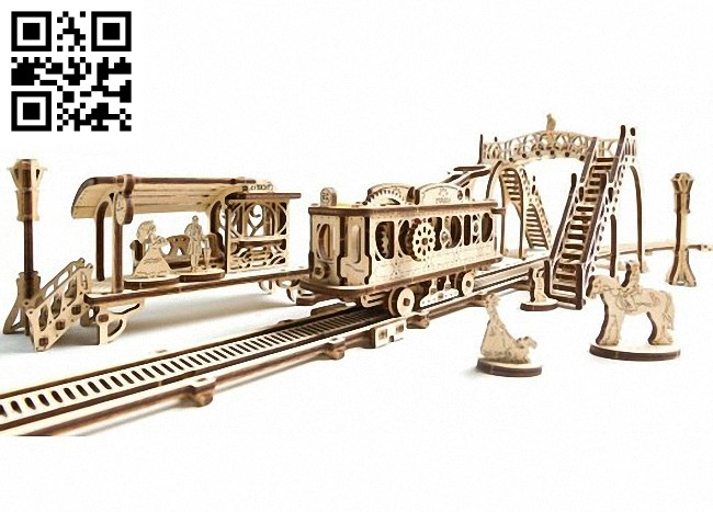 Tramway E0010816 file cdr and dxf free vector download for Laser cut