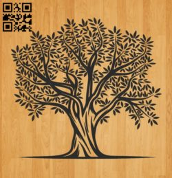 Tree E0010702 file cdr and dxf free vector download for laser engraving machines