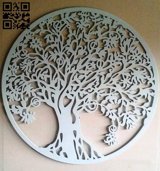 Tree E0010781 file cdr and dxf free vector download for laser engraving machines