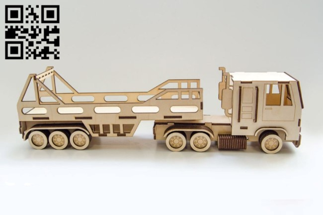 Truck plywood E0010854 file cdr and dxf free vector download for Laser cut