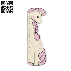 Unicorn ruler E0010658 file cdr and dxf free vector download for Laser cut