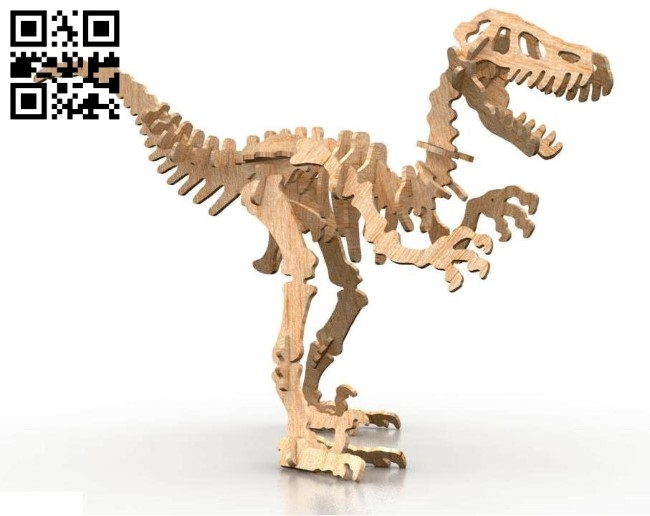Velociraptor Dinosaurs E0010661 file cdr and dxf free vector download for Laser cut