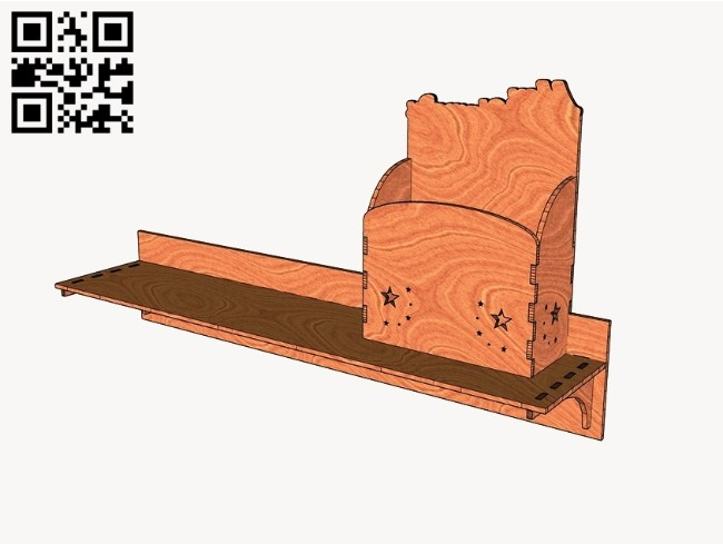 Wall shelves E0010684 file cdr and dxf free vector download for Laser cut