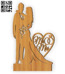 Wedding E0010566 file cdr and dxf free vector download for Laser cut