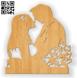 Wedding statue E0010564 file cdr and dxf free vector download for Laser cut