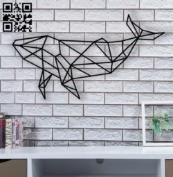Whale geometry E0010890 file cdr and dxf free vector download for Laser cut