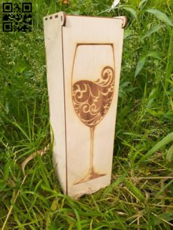 Wine box  E0010653 file cdr and dxf free vector download for Laser cut