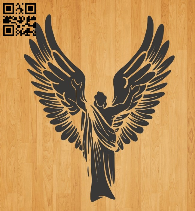Winged angels E0010650 file cdr and dxf free vector download for laser engraving machines