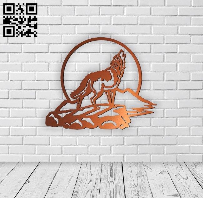 Wolf E0010570 file cdr and dxf free vector download for Laser cut